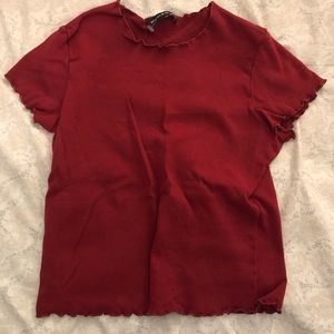 dark red brandy crop top